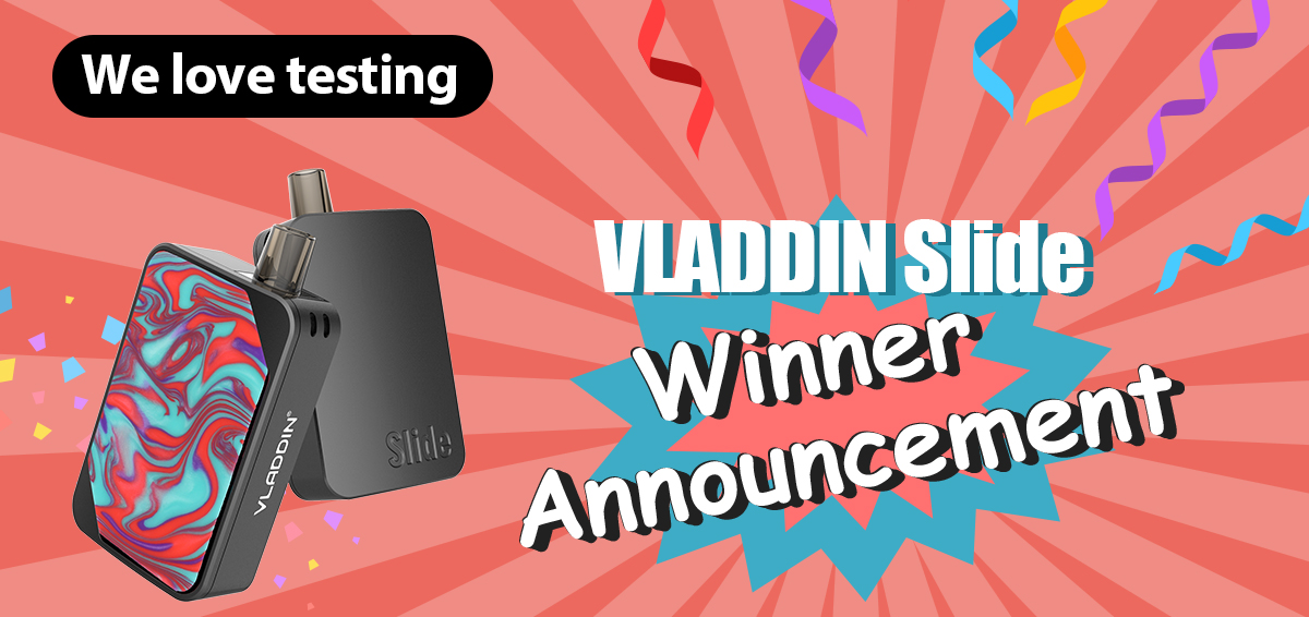 We love testing | VLADDIN Slide Winners Announcement