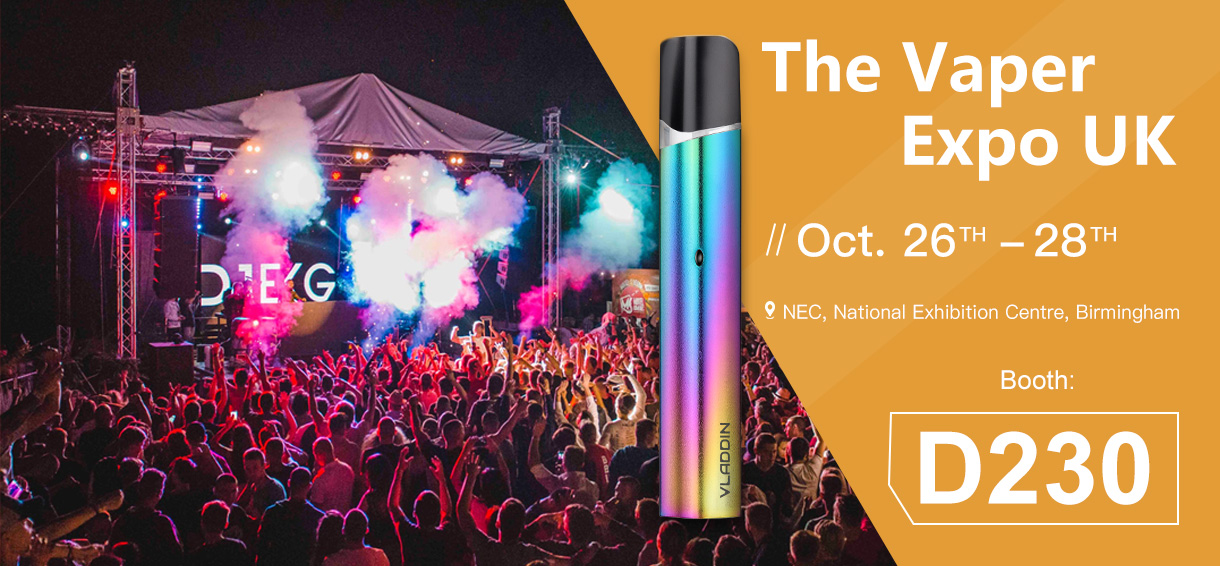 INVITATION TO THE VAPER EXPO UK FROM October 26-28th, 2018