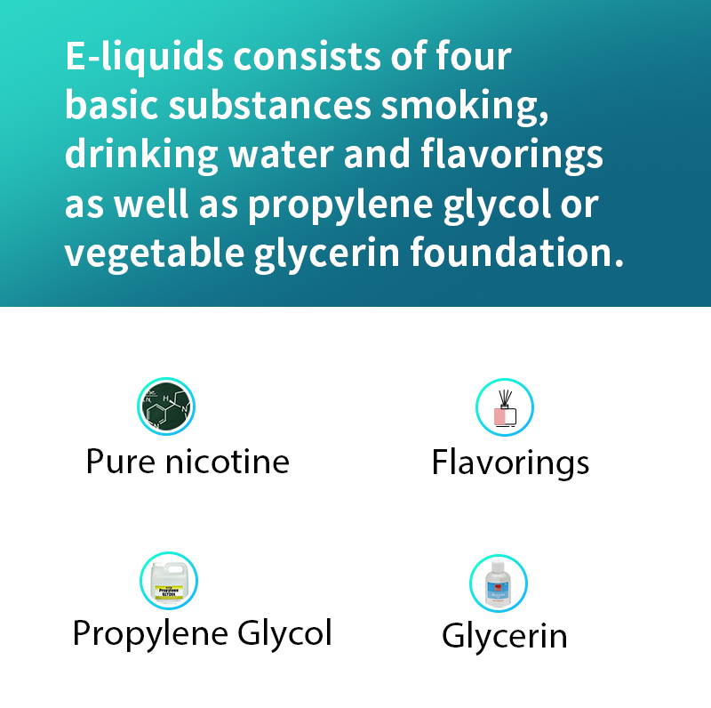 What is in most e-liquids