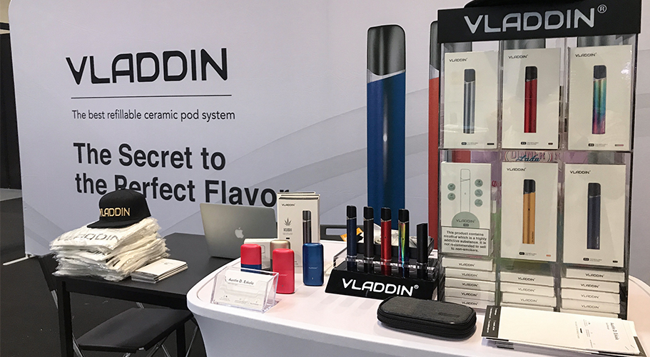 2019 vladdin booth in vaper expo uk
